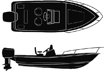 SEMI-CUSTOM V-HULL CENTER CONSOLE - BOAT COVER  (#50-97781) - Click Here to See Product Details