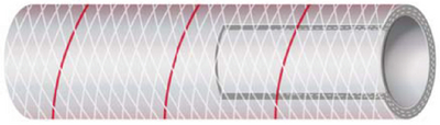 CLEAR REINFORCED PVC TUBING WITH TRACER - SERIES 162 & 164 (#88-1621126) - Click Here to See Product Details