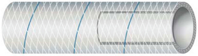 CLEAR REINFORCED PVC TUBING WITH TRACER - SERIES 162 & 164 (#88-1640345) - Click Here to See Product Details