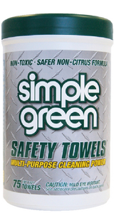 SIMPLE GREEN SAFETY TOWELS (#389-13351) - Click Here to See Product Details
