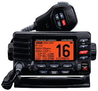 EXPLORER GX1600 VHF RADIO (#783-GX1600B) - Click Here to See Product Details