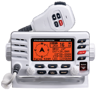 EXPLORER GX1600 VHF RADIO (#783-GX1600W) - Click Here to See Product Details