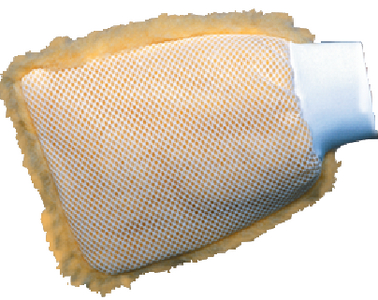 WOOL WASH MITT WITH MESH SIDE (#74-40037) - Click Here to See Product Details
