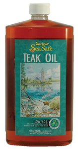 SEA SAFE PREMIUM GOLDEN LOW V.O.C. TEAK OIL  (#74-89751) - Click Here to See Product Details
