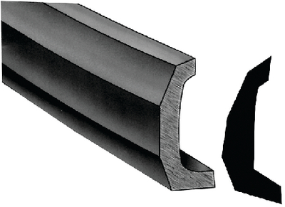 SEMI-RIGID VINYL RUB RAIL KIT  (#236-V114135BKA303) - Click Here to See Product Details