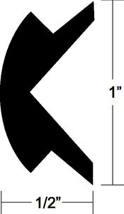 FLEXIBLE VINYL INSERT (#236-V120303BKA701) - Click Here to See Product Details