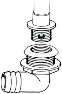 SCREW-IN OVERFLOW DRAIN TUBE (#232-TH1290T) - Click Here to See Product Details