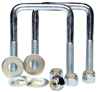 ZINC PLATED SQUARE U-BOLTS (#241-86207)