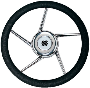 5 SPOKE NON-MAGNETIC STAINLESS STEEL STEERING WHEEL  (#216-V01) - Click Here to See Product Details