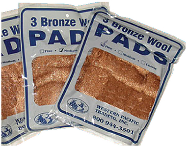 BRONZE WOOL PADS (#355-35010) - Click Here to See Product Details