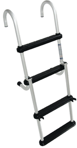 REMOVABLE 4 STEP FOLDING PONTOON LADDER (#332-FDL4B) - Click Here to See Product Details