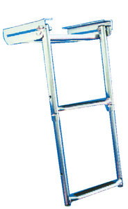 UNDER PLATFORM TELESCOPING SLIDE MOUNT LADDER (#332-SM2X) - Click Here to See Product Details