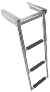 UNDER PLATFORM TELESCOPING SLIDE MOUNT LADDER (#332-SM3X) - Click Here to See Product Details