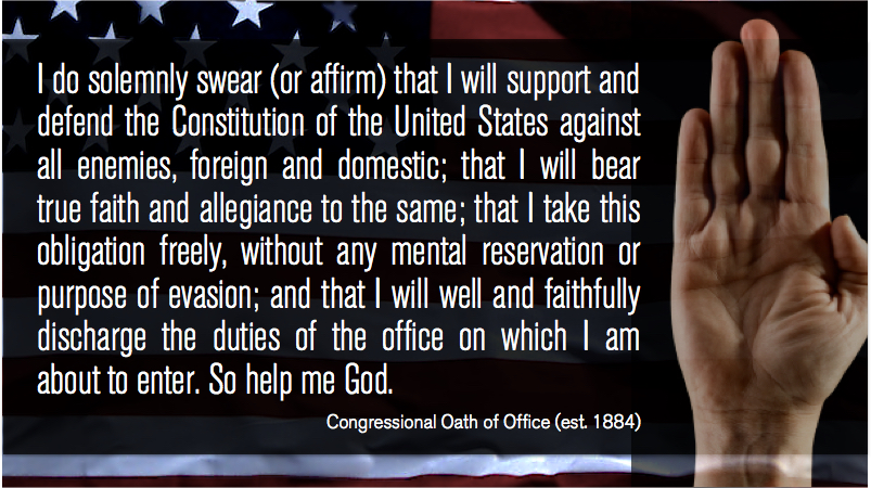 The Congressional Oath of Office