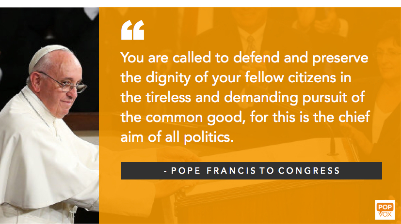 Pope Francis Remarks to Congress