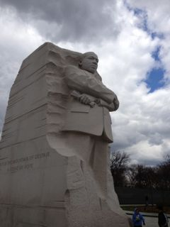 The Martin Luther King Jr Memorial on the National Mall
