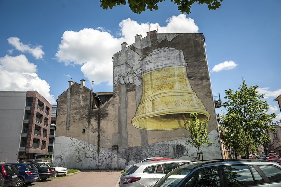 Urban Art: Ding Dong Dumb by Blu in Krakow, Poland