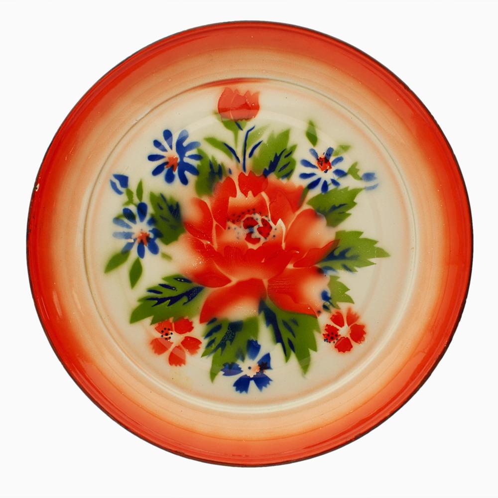 Bunga Raya Vintage Enamel Plates