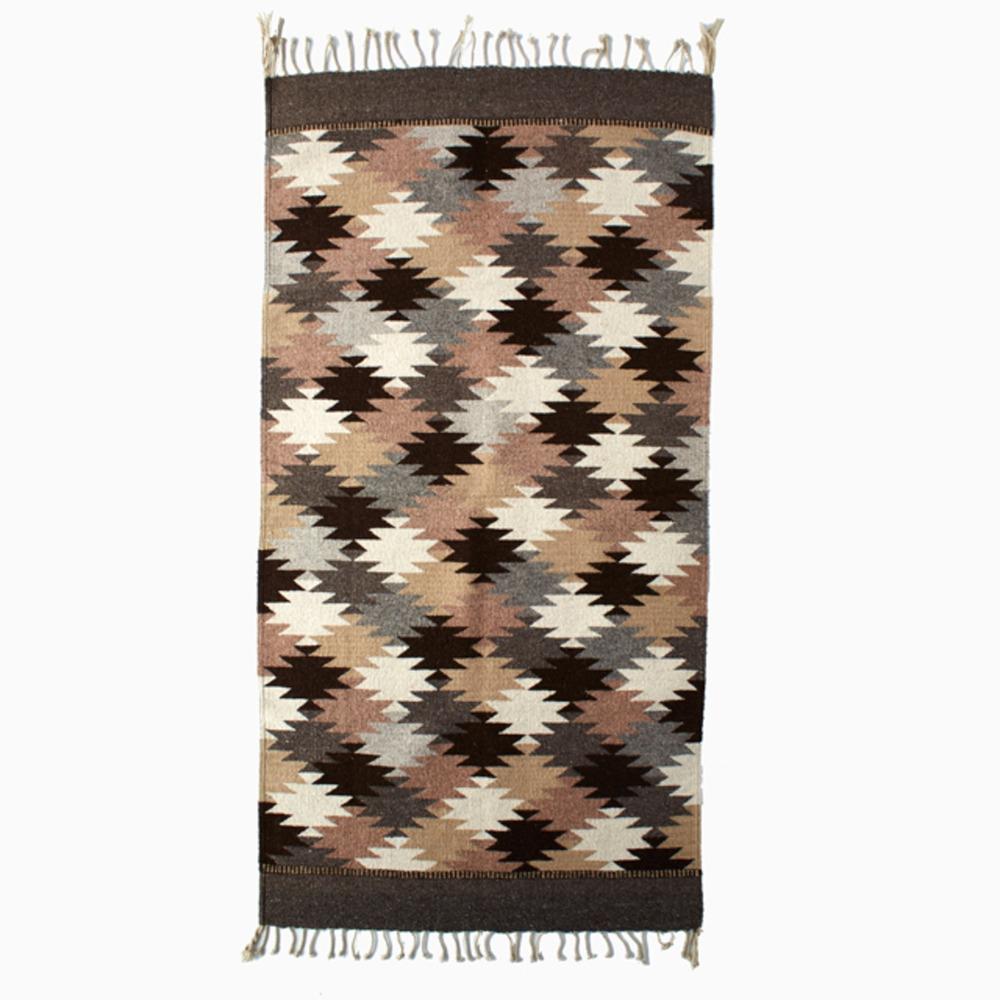 Earthtone Starburst Wool Rug