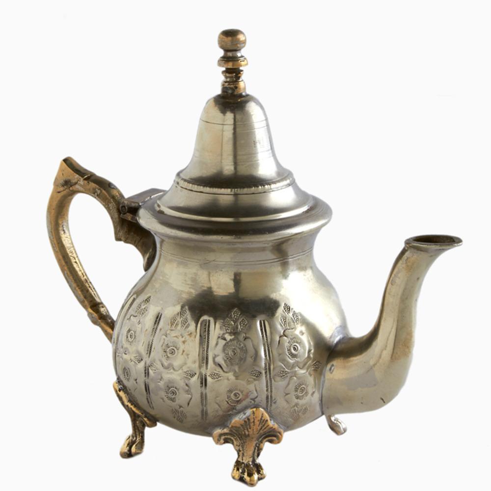 Silver Hollyhock Moroccan Teapot Shop