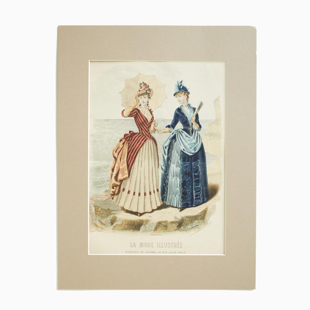 La Mode Illustree Vintage Print