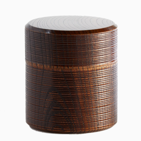 Toshiie Wooden Tea Canister from Japan