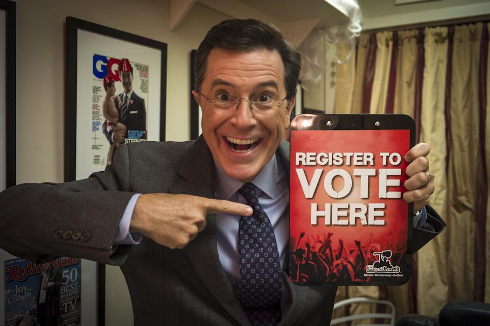 Stephen Colbert Voter Registration