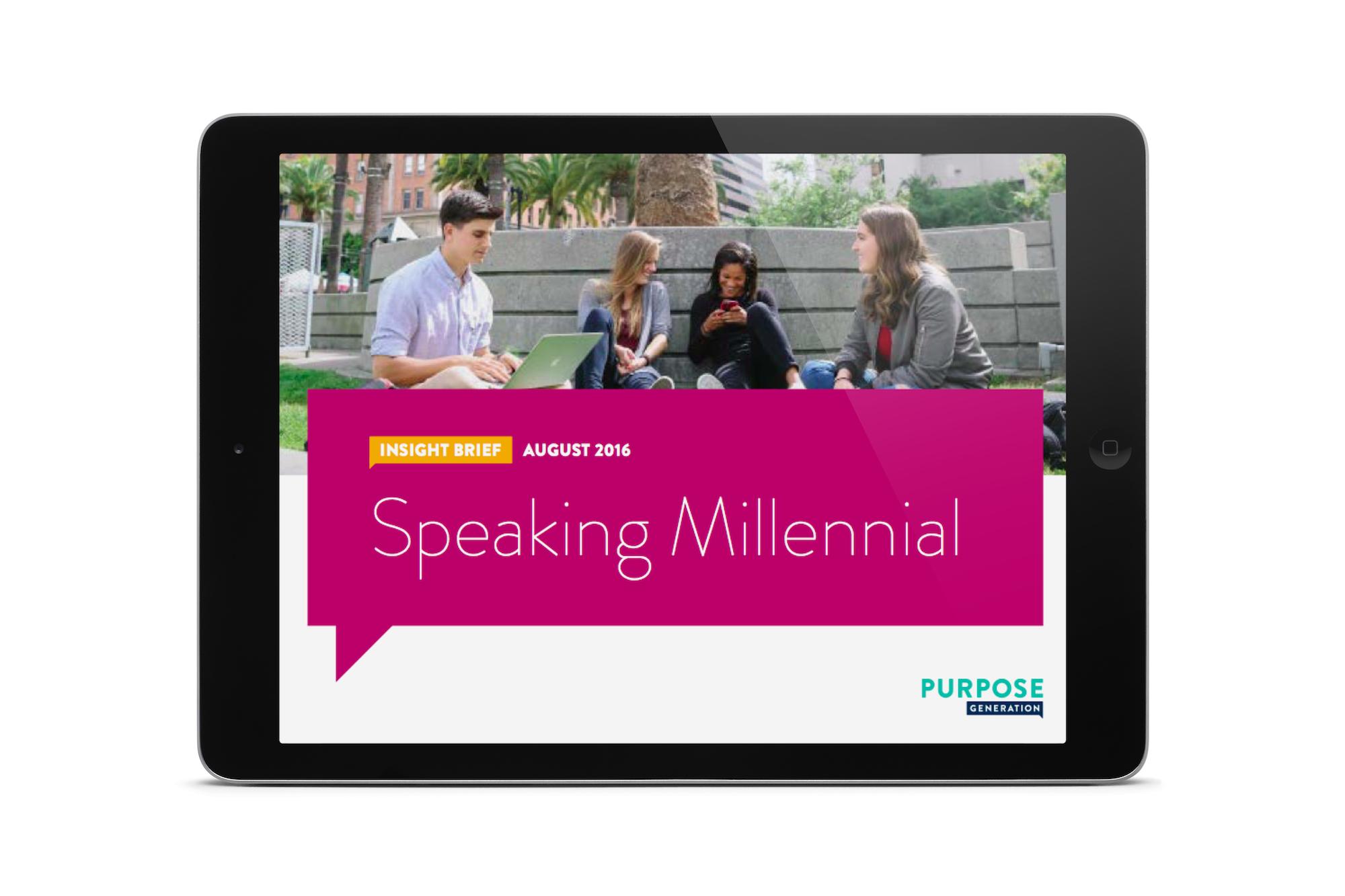 Speakinng Millennial