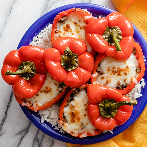 Costa Rican Inspired Stuffed Peppers