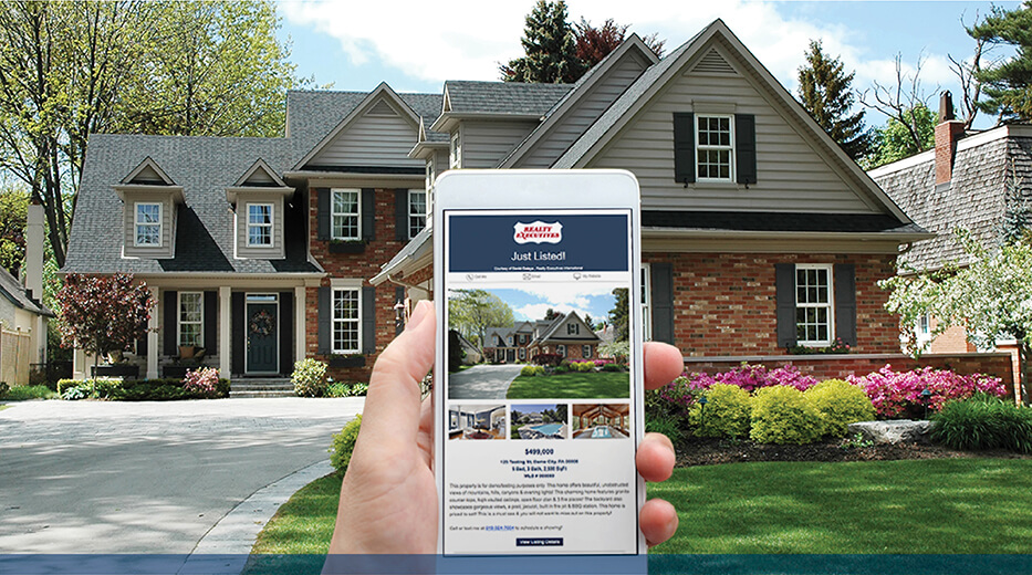 real estate search on a smartphone