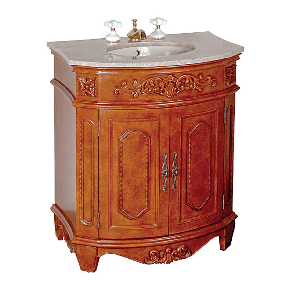 30 Quot Bathroom Small Vanity Marble Sink Travertine Counterop