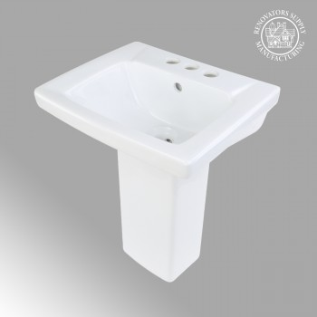 Children's White Pedestal Sink Grade A Vitreous China