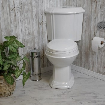 White DualFlush Corner Toilet Elongated Vitreous China