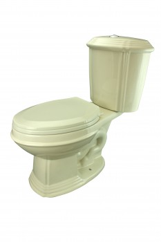 Sheffield Deluxe Two-piece Dual Flush Toilet Bone Elongated