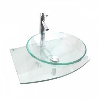 Unique Tempered Glass Wall Mount Vessel Sink Clear Durable