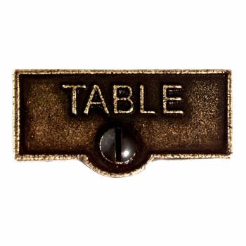 Switch Plate Tags TABLE Name Signs Labels Cast Brass