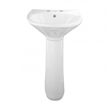 Small White Pedestal Bathroom Sink Grade A Vitreous China