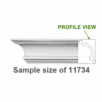 Cornice White Urethane 24 Sample of 11734