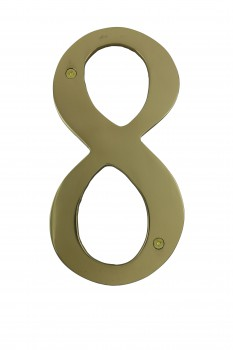 Cast Solid Brass 8 Address House Number 8
