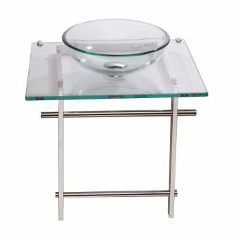 Children's Glass Console Sink Wash Station Clear