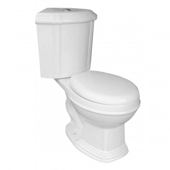 White Ceramic Round Space Saving Dual Flush Corner Toilet