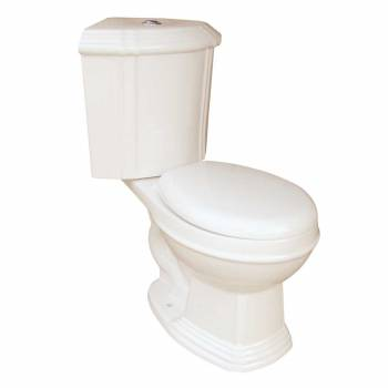 Sheffield Dual Flush Corner Toilet  Bone Round Bowl