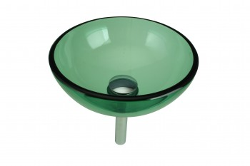 Vessel Sink Bathroom Green Glass Piccolo Mini Round 11 34