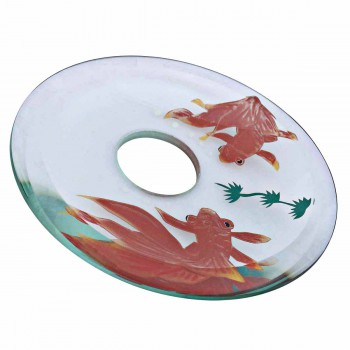 Replacement Waterfall Faucet Glass Disc Tray Plate Koi Fish