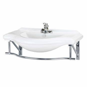 Deluxe Large Wall Mount Console Sink 4 Centerset Towel Bar