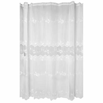 Lace Shower Curtain Victorian Floral Embroidered 72 x 72