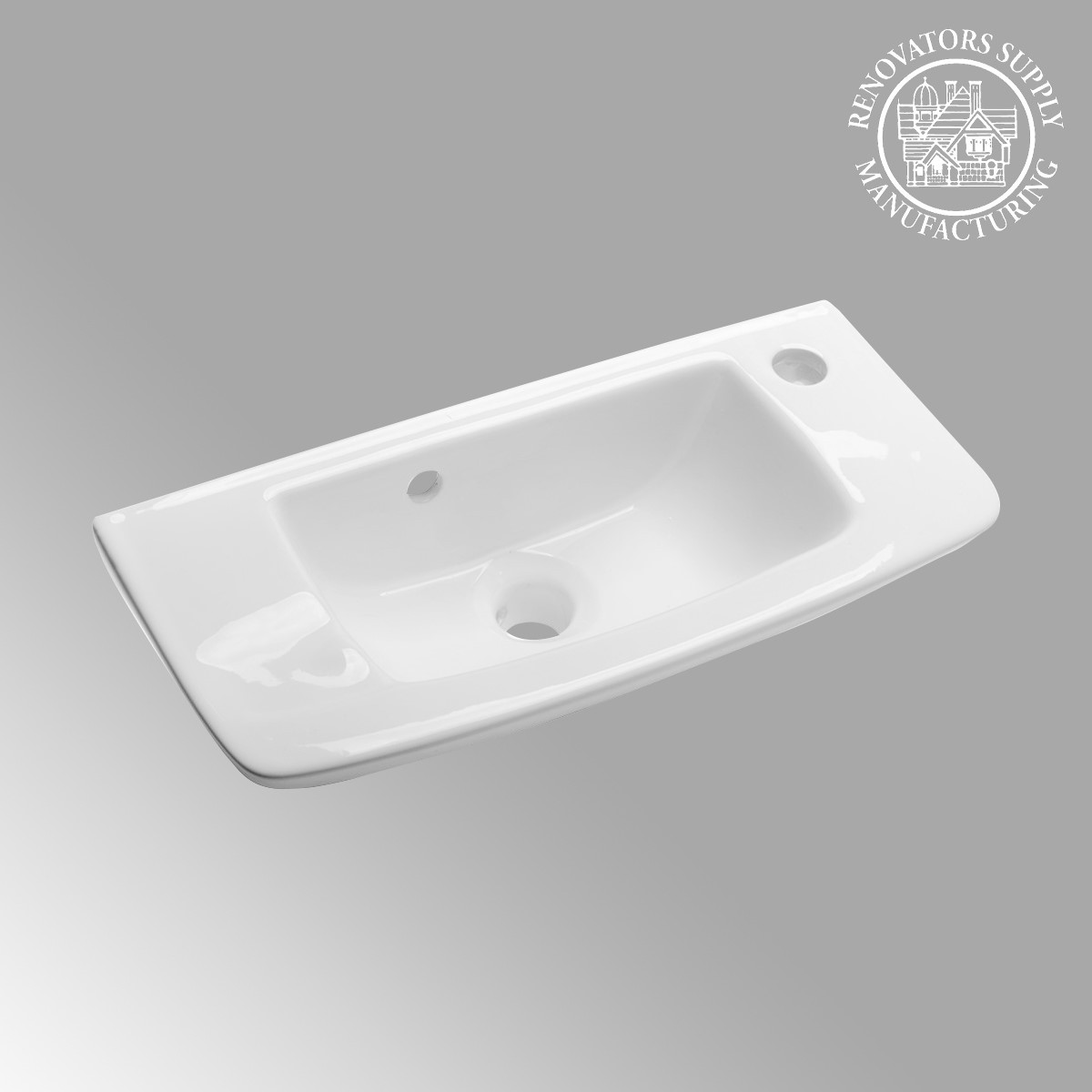 Small wall mount vessel sink grade a vitreous china for Tiny bathroom sink