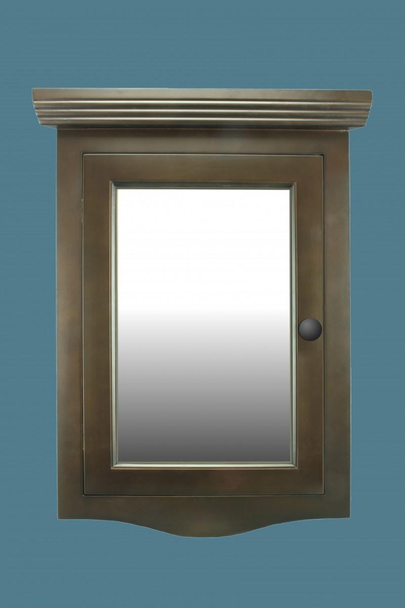 Corner Bathroom Mirror: Solid Wood Corner Medicine Cabinet Mirror Door Dark Oak