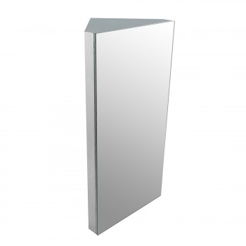 Brushed Stainless Steel Corner Medicine Cabinet Mirror