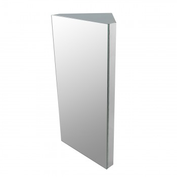 Corner Wall Mount Medicine Cabinet Brushed Stainless Steel